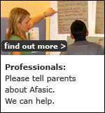 Professionals: please tell parents about Afasic