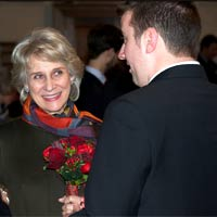 Darren and the Duchess of Gloucester