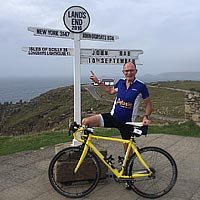 John Perry rides 969 miles for Afasic