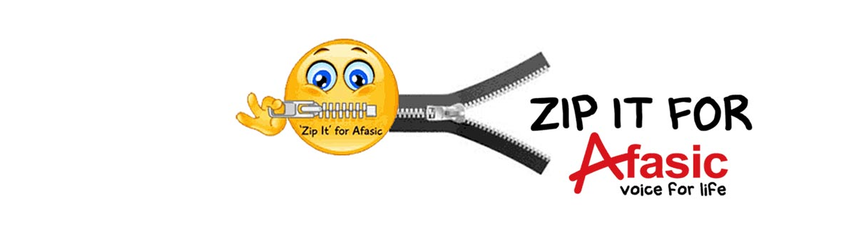 zip it for afasic - fundraising challenge in support of children who have problems talking