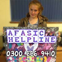 Afasic Helpline suports parents of children with difficulties talking - please support us