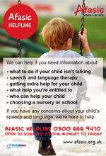 Afasic Helpline poster