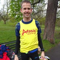 David runs the London Marathon for Afasic