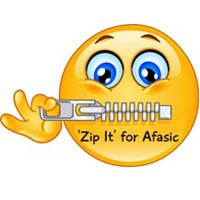 Zip It for Afasic - challenge to keep silent - raise money for children with talking difficulties